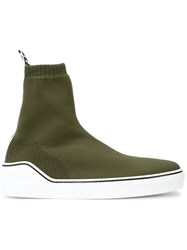 Givenchy Knitted Mid Sneakers Green