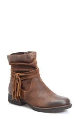 Brn Women's B Rn 'Cross' Bootie Tobacco Distressed Leather