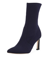 Stuart Weitzman Rapture Knit 75Mm Bootie Navy