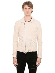 Giorgio Brato Reversed Washed Nappa Biker Jacket