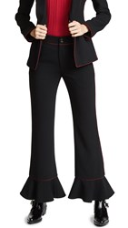 Laveer Ruffle Annie Trousers Black Oxblood