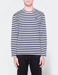 Comme Des Garcons Play Striped T Shirt Navy White