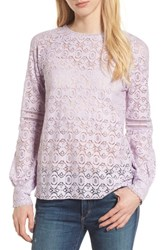 Hinge 'S Lace Top Purple Petal