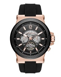 Dylan 48Mm Rose Golden Chronograph Watch Black Rose Gold Black Michael Michael Kors