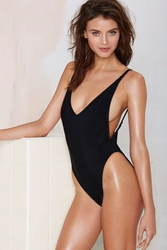 Nasty Gal Alina Swimsuit Black