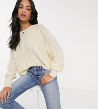 Micha Lounge Relaxed Jumper In Pointelle Knit Yellow