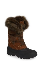Woolrich Ice Cougar Waterproof Knee High Winter Boot With Faux Fur Trim Dachshund Wool