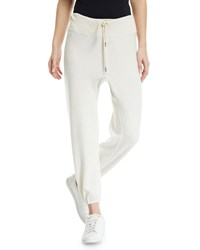 The Great Warm Up Drawstring Ankle Sweatpants White