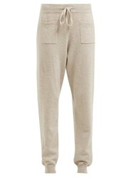 Allude Drawstring Wool And Cashmere Blend Track Pants Brown