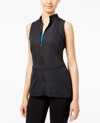 Jessica Simpson The Warm Up Juniors' Mesh Back Vest Only At Macy's Jet Black