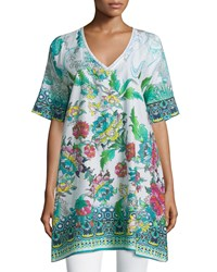 Johnny Was Nova Floral Dolman Sleeve Tunic Multi