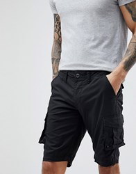 Selected Homme Cargo Shorts Black