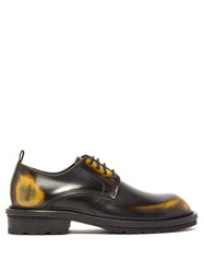 Ann Demeulemeester Antiqued Leather Derby Shoes Black Multi