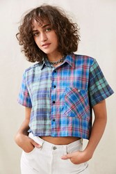 Urban Renewal Remade Pieced Flannel Shirt Assorted