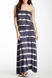 Hodges Collection Strapless Summer Dress Gray