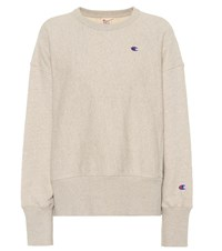 Champion Cotton And Linen Sweatshirt Beige