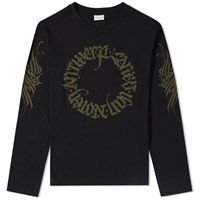 Dries Van Noten Long Sleeve Hawk Tee Black