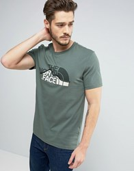 The North Face Mountain Line T Shirt In Green Green