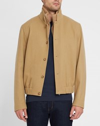 Editions M.R Camel Buttoned Double Collar Jacket