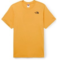 The North Face Red Box Logo Print Cotton Jersey T Shirt Yellow