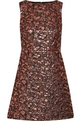 Alice Olivia Metallic Jacquard Mini Dress Pink