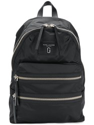 Marc Jacobs Biker Backpack Leather Nylon Black