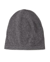Neiman Marcus Cashmere Slouchy Hat Charcoal