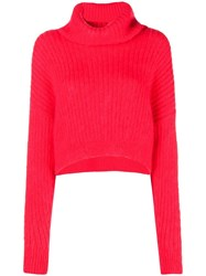 3.1 Phillip Lim Cropped Turtleneck Sweater Red