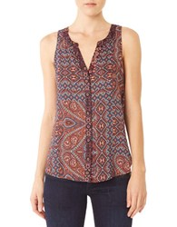 Sanctuary Printed Sleeveless Top Navy Print