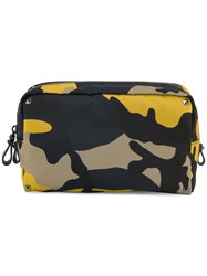 Valentino Small Camouflage Nylon Washbag Nylon Multicolour
