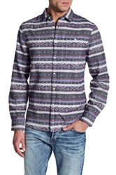 Indigo Star Rick Long Sleeve Jacquard Flannel Tailored Fit Shirt Multi