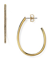 Nadri Pave Teardrop Hoop Earrings Gold