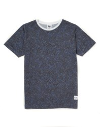 Hype X The Idle Man Midnight Speckle All Over Print T Shirt Navy