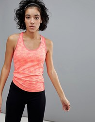 South Beach Soft Marl Gym Vest Marled Coral Pink