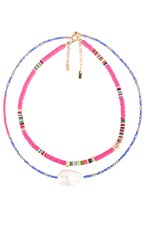 Joolz By Martha Calvo Groove Necklace Set In Pink.