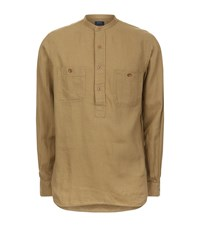 Polo Ralph Lauren Linen Cotton Utility Shirt Male Olive