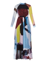 Rachel Comey Collage Silk Chiffon Dress