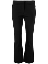Theory Cropped Flared Trousers Black