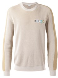 Kenzo Ribbed Logo Sweater Nude Neutrals