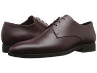 The Kooples Smooth Leather Shoes Burgundy Men's Dress Flat Shoes