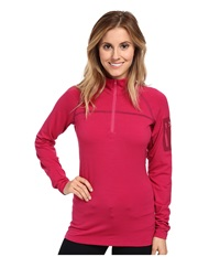 Arc'teryx Rho Ltw Zip Neck Ruby Sunrise Women's Long Sleeve Pullover Red