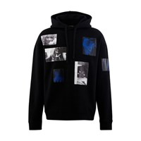 Raf Simons Hooded Sweatshirt With Patches Black