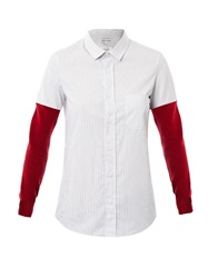 Each X Other Contrast Sleeve Shirt