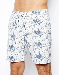 Selected Old Surf Fantasy Print Swim Shorts Blue