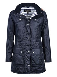 Barbour Barnacle Waxed Jacket Navy