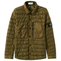 Stone Island Garment Dyed Micro Down Shirt Jacket Green