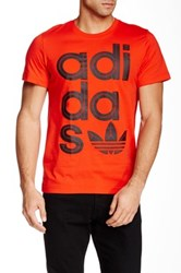 Adidas Wrap Logo Tee Red