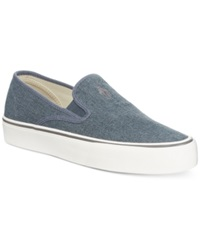 Polo Ralph Lauren Mytton Slip On Sneakers Men's Shoes Blue Burlap Canvas