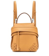 Tod's Wave Mini Leather Backpack Yellow