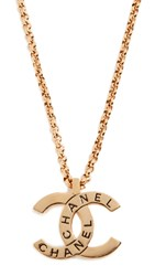Wgaca What Goes Around Comes Around Chanel Gold Cc Pendant Necklace